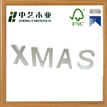 Eco- friendly OEM&ODM wooden crafts words wooden christmas letters