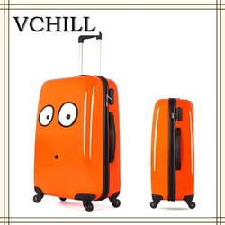 bright color printed cartoon characters luggage