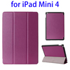 OEM service 3-folding Horizontal leather stand case for ipad mini 4 cover