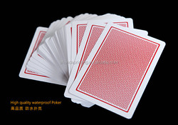 High Quality 100% PVC Plastic Playing Cards Super waterproof and Excellent Flexibility