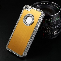 Popular Fashion Free Shipping Chrome Silver Edge Diamond for Iphone5 Aluminum Metal Cover Case