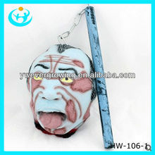 Decorative bars and the haunted house ghost head stick its tongue out halloween decorate
