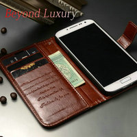 2014 China Manufacturer Hot Selling Luxury Wallet Stand Design PU Leather Mobile Phone Accessories Case for Samsung S4