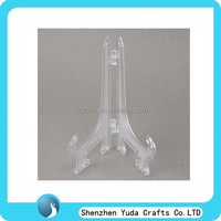 Free shipping 8'' folding plastic easel stand, counter top plate display stand, adjustable easel holder wholesale