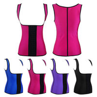 Walson waist training vest full body corsets for women full body leather corset