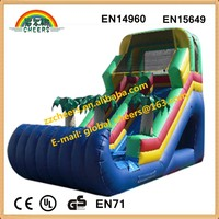 Commercial inflatable palm tree slide, inflatatble water slide