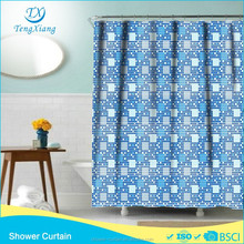 Shower Curtain Printing Mosaics Wall Polyester Fabric