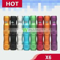 huge vaporizer x6 mod,x6 ecig mod electronic cigarette starter kit 1300mah