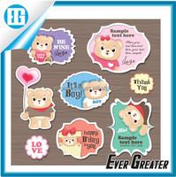 Custom sticker label gun vinyl die cut stickers private label products 3m adhesive