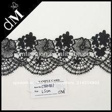 2014 Nueva llegada buena calidad adornos del bordado negro para ropa CTR0837