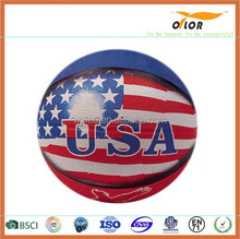 Rubber basketball street basketball