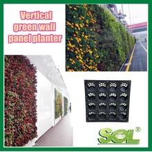 cheap plastic vertical garden planter, outdoor plant wall, living wall planter