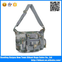 High quality unisex fashion camouflage canvas messenger bag jungle bags