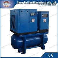 10hp 7.5kw Combined Screw Air Compressor for truck air brake compressor