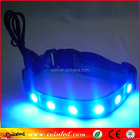 ADJUSTABLE BRIGHT FLASHING MULTICOLOR LED COLLAR PET DOG SAFETY NIGHT LIGHT Nice wholesale beaded collar necklace