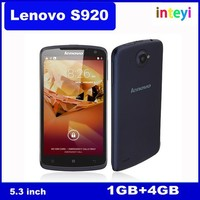 New Lenovo S920 mobile phone Quad Core MTK6589 1.2GHz 1G RAM 4G ROM Camera 5.3 inch IPS Screen Android 4.2 Multi-language