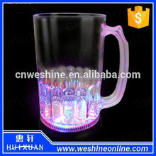 LED beer mug perfect for bars/clubs/pubs/parties,Plastic LED flashing mugs