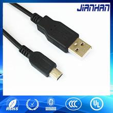 Mini usb de extremo a extremo 3.5 mm macho de carga cable