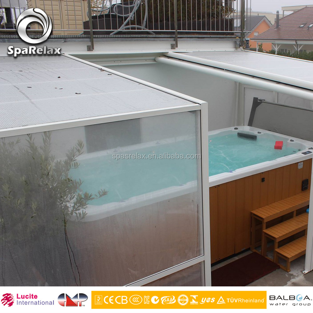 Outdoor acrylic shell spa pool swimming pool equipment for Garden pool equipment