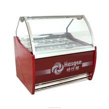 El CE probó helado escaparate, vitrina de helado, el último diseño y caliente venta