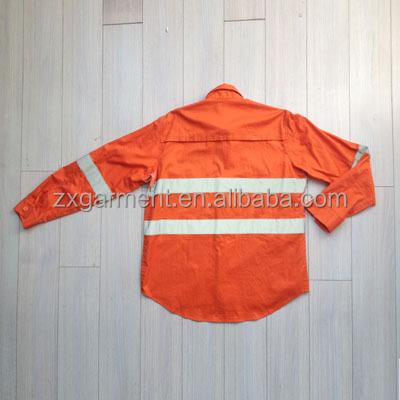 2015 Zx Construction Orange Work Shirts Mechanic Work