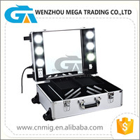 Waterproof Trolly Make-up Box/Aluminum Cosmetic Case Manufacture