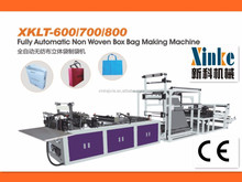 High quality non-woven recycle box bag making machine
