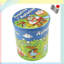 High quality tinplate empty round metal tin can