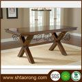 Estilo antigo em madeira maciça de retângulo mesa de jantar trdt- 062