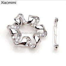 Ribbon crystal diamond brooch scarf buckle dual factory outlets