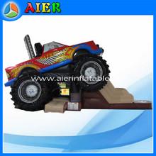 Truck car inflatable dry slide,inflatable slide for children