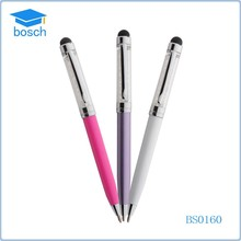 Hot selling 2 in1 metal mini crystal stylus touch pen for Universal Cell Phone