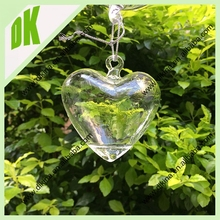Terrarium necklace wholesales // Manufacture price+ Low MOQ+ Any sizes+ Mixed design Heart shaped glass terrarium necklace gift