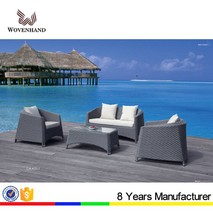 Hot sale outdoor PE wicker free combination sofa with table