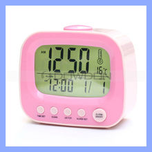 ABS Retro Design Desk Clock with Thermometer and Calendar