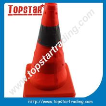 cheap price foldable orange rubber traffic cone