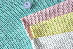 240GSM polyester and nylon 3D dots quilted dress fabric jacquard