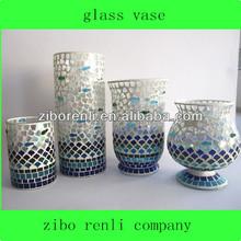 al por mayor globo de cristal soplado a mano mosaico de vidrio manchado terrario gota de lluvia