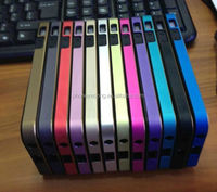 Soft TPU Bumper Frame Case for Apple/for iPhone 5 5S with two metal buttons