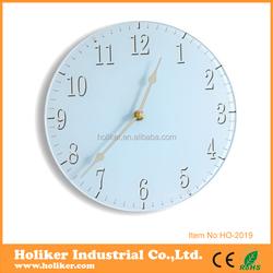 simple design glass crafts clock for decor