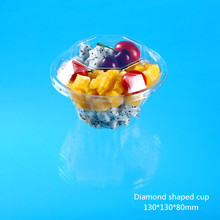 Popular Plastic Fruit Packing Box with Diamond shaped cup