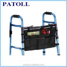 medical products practical organizer bag pouch walker, hanging folding walker bag