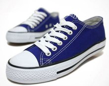 Classic Vulcanized Dark Blue Casual Shoes /Stylish Canvas Shoes For Men Or Woman / Low Cut Fashion shoes