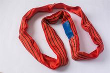 20T Heavy-lift PET round sling, Soft lifting polyester sling for lifting oil can and wooden crate