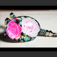 ~J~ New arrival +small MOQ +fashion clear glass rectangle 76mm