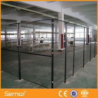 Anping Factory High Quality PVC Coated Galvanized 1 Inch Used Chain Link Fence Hot Sale (ISO9001;Manufacturer)