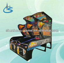Arcade coin operated basketball game machine