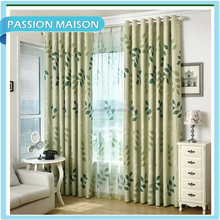 2015 China factory direct sales of all high-quality modern style exquisite leaf pattern Window curtain