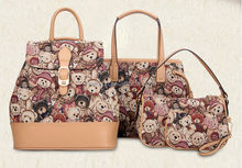 2015 New 4 PCS SET Korea style lady handbag buy 1 get 4