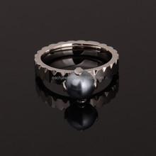 Black Pearl Wedding Ring